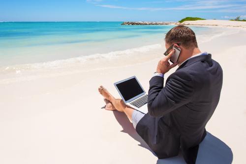 wakacje biznesmena